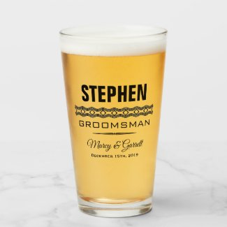 GROOMSMAN WEDDING PARTY TUMBLER GLASS
