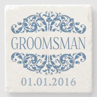 Groomsman wedding stone coasters Save the Date Stone Coaster