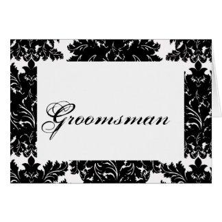 """Groomsman"" Wedding Table Card"