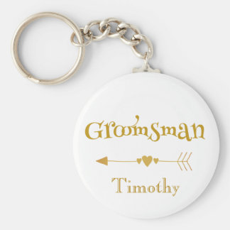 Groomsman wedding token keychain