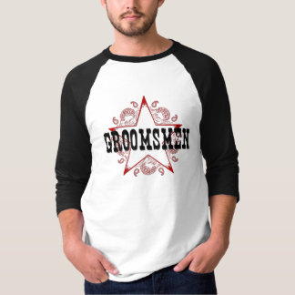 Groomsman Western Red T-Shirt