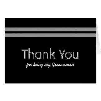 GROOMSMEN Bold Stripe Wedding THANK YOU Card