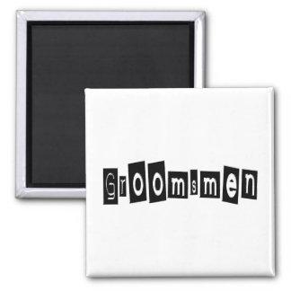 Groomsmen Square Magnet