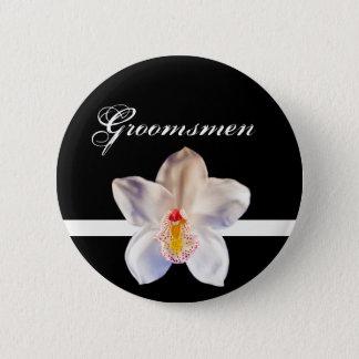 Groomsmen Wedding ID Badge 2 Inch Round Button