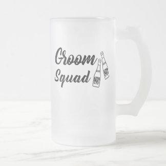 Groomsmen with Wine Bottle Wedding Gift Frosted Glass Beer Mug