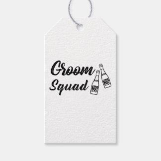 Groomsmen with Wine Bottle Wedding Gift Gift Tags
