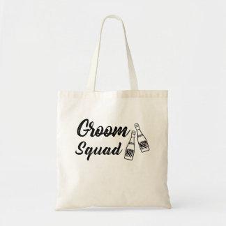 Groomsmen with Wine Bottle Wedding Gift Tote Bag