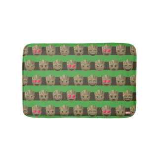 Groot Emoji Stripe Pattern Bath Mat