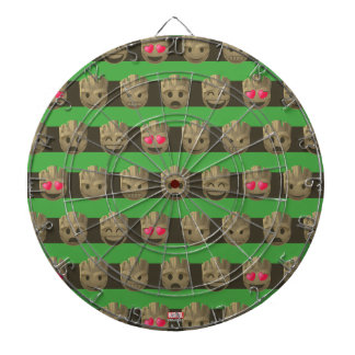 Groot Emoji Stripe Pattern Dartboard