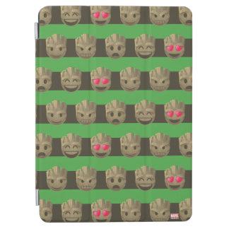 Groot Emoji Stripe Pattern iPad Air Cover
