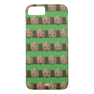 Groot Emoji Stripe Pattern iPhone 8/7 Case