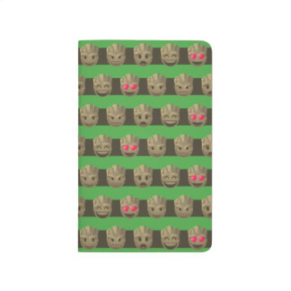 Groot Emoji Stripe Pattern Journal