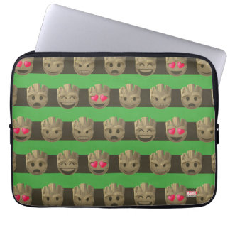 Groot Emoji Stripe Pattern Laptop Sleeve