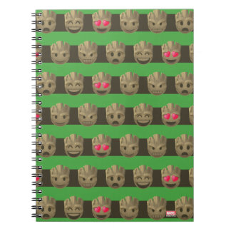 Groot Emoji Stripe Pattern Notebook