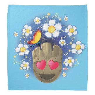 Groot In Love Emoji Bandana