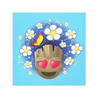Groot In Love Emoji Canvas Print