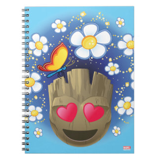 Groot In Love Emoji Notebook