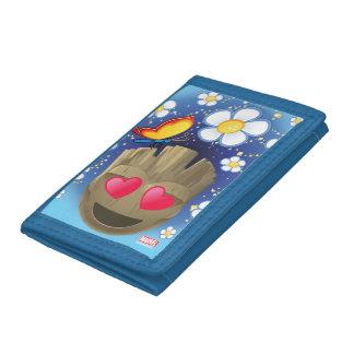 Groot In Love Emoji Tri-fold Wallet