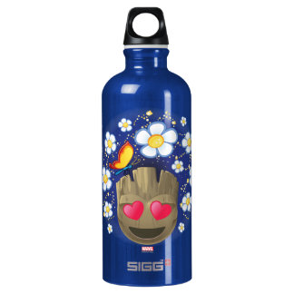 Groot In Love Emoji Water Bottle