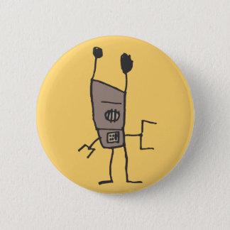 Groove Robot 2 Inch Round Button