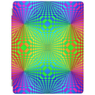 Groovy 3-D Retro Pattern iPad Cover