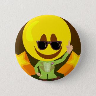 Groovy 70's Disco Smiley 2 Inch Round Button