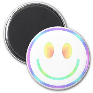 Groovy 70s Retro Happy Smiley Face Magnet