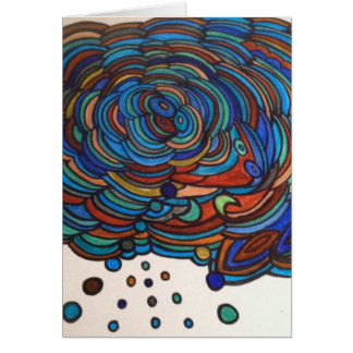 Groovy, abstract design card