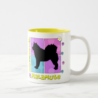 Groovy Alaskan Malamute Two-Tone Coffee Mug