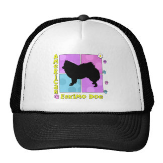 Groovy American Eskimo Dog Trucker Hat