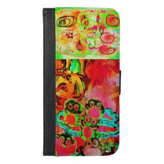 GROOVY ART Design©2016CaroleTomlinson iPhone 6/6s Plus Wallet Case