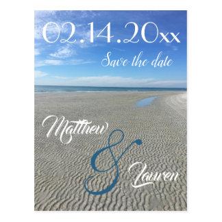 Groovy Beach Save the Date Postcard