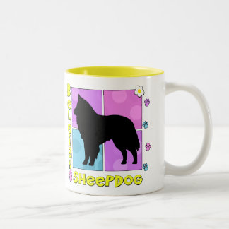 Groovy Belgian Sheepdog Two-Tone Coffee Mug