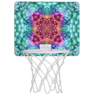 Groovy  Blu  Vintage Kaleidoscope Basketball Hoops