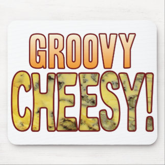 Groovy Blue Cheesy Mouse Pad