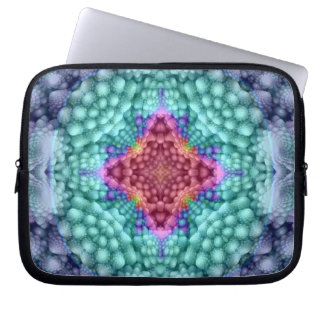 Groovy  Blue   Colorful Neoprene Laptop Sleeves