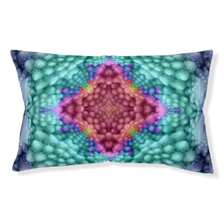 Groovy  Blue  Colorful Vintage Kaleidoscope Dog Be Pet Bed