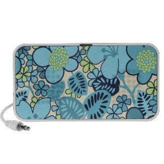 Groovy Blue Floral New OrigAudio Portable Speaker