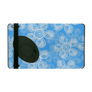 Groovy Blue Flowers Design iPad Folio Case