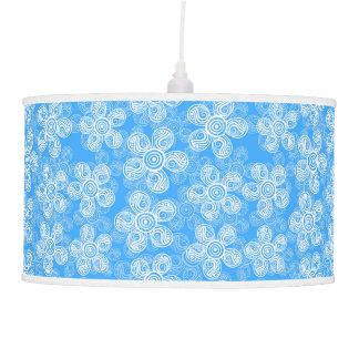 Groovy Blue Flowers Design Pendant Lamps