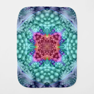 Groovy Blue  Kaleidoscope  Burp Cloth