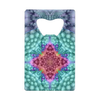 Groovy  Blue  Kaleidoscope   Credit Card Openers Credit Card Bottle Opener
