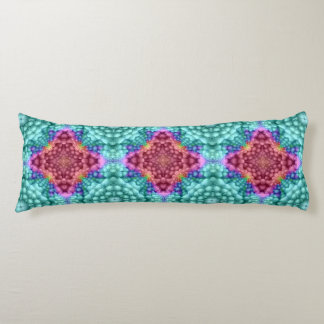 Groovy  Blue Kaleidoscope Pattern Body Pillow