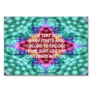Groovy  Blue   Kaleidoscope   Tablecards Card