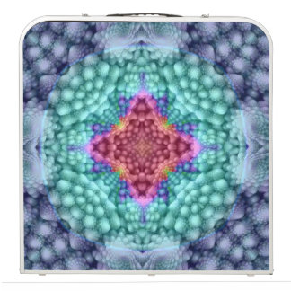 "Groovy  Blue Vintage Kaleidoscope  48""  Pong Table"