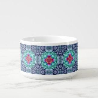 Groovy Blue Vintage Kaleidoscope Chili Bowls