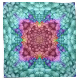 Groovy Blue Vintage Kaleidoscope Cloth Napkins