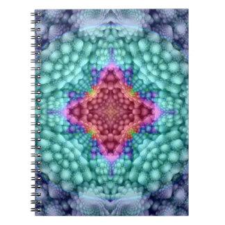 Groovy Blue Vintage Kaleidoscope Notebook