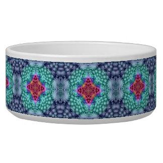 Groovy  Blue  Vintage   Kaleidoscope   Pet Dish