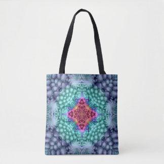 Groovy Blue Vintage Kaleidoscope   Tote Bag